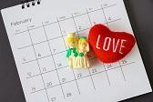 Calendario que muestra el conteo regresivo para la boda