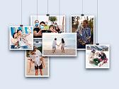 Galería de fotos de los novios que estarán en la invitación digital