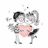 Muestra de afecto entre los novios