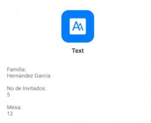 Texto escaneado al leer un código QR